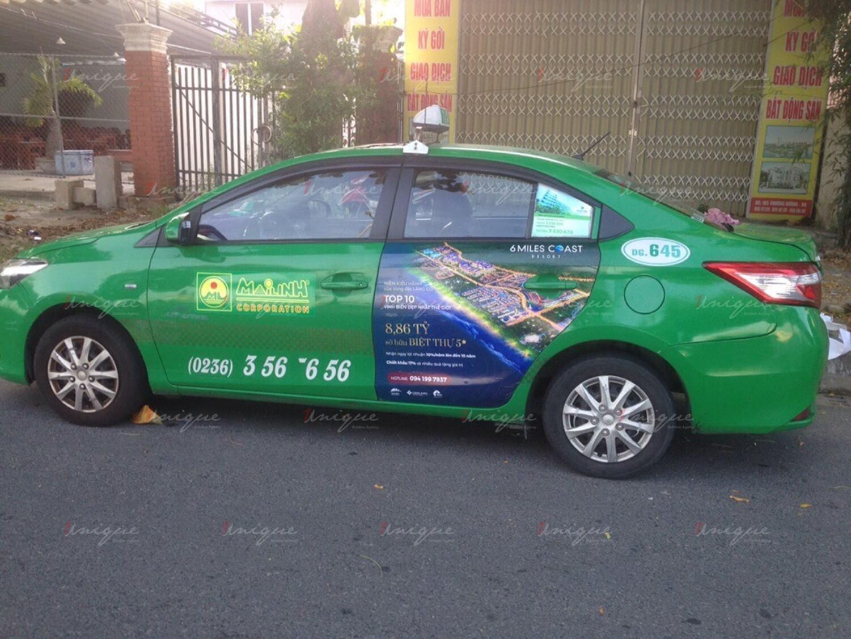 6 Miles Coast Resort triển khai chiến dịch quảng cáo trên taxi có quy mô lớn