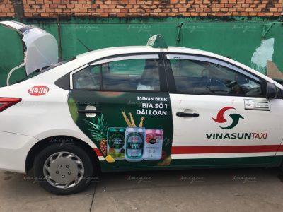 quảng cáo taxi cho taiwan beer