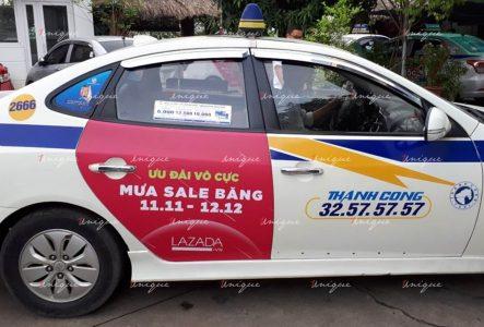 Chiến dịch quảng cáo taxi của Lazada tại Hà Nội