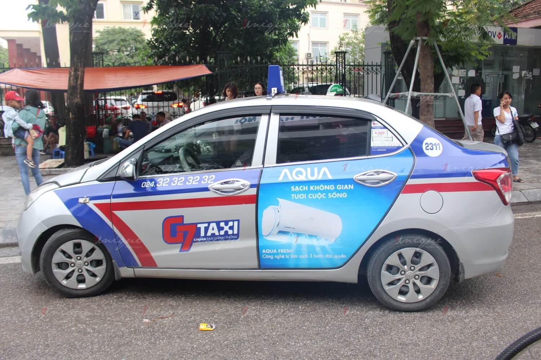 quảng cáo taxi G7