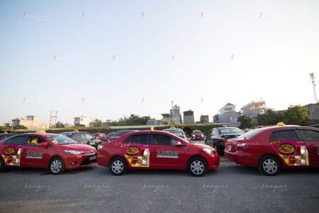 quảng cáo taxi hoa phượng
