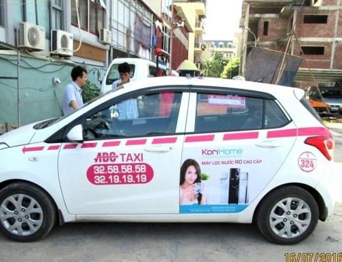 Chiến dịch quảng cáo cho hãng Korihome trên xe taxi ABC