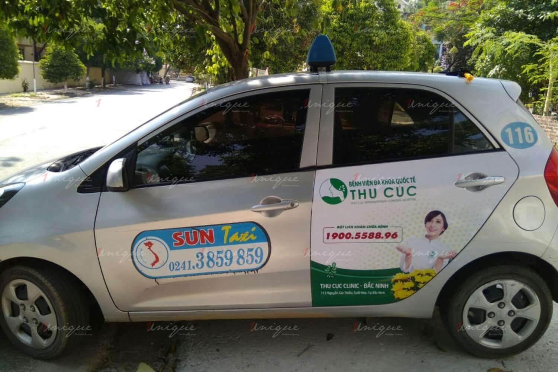quảng cáo taxi tại bình định