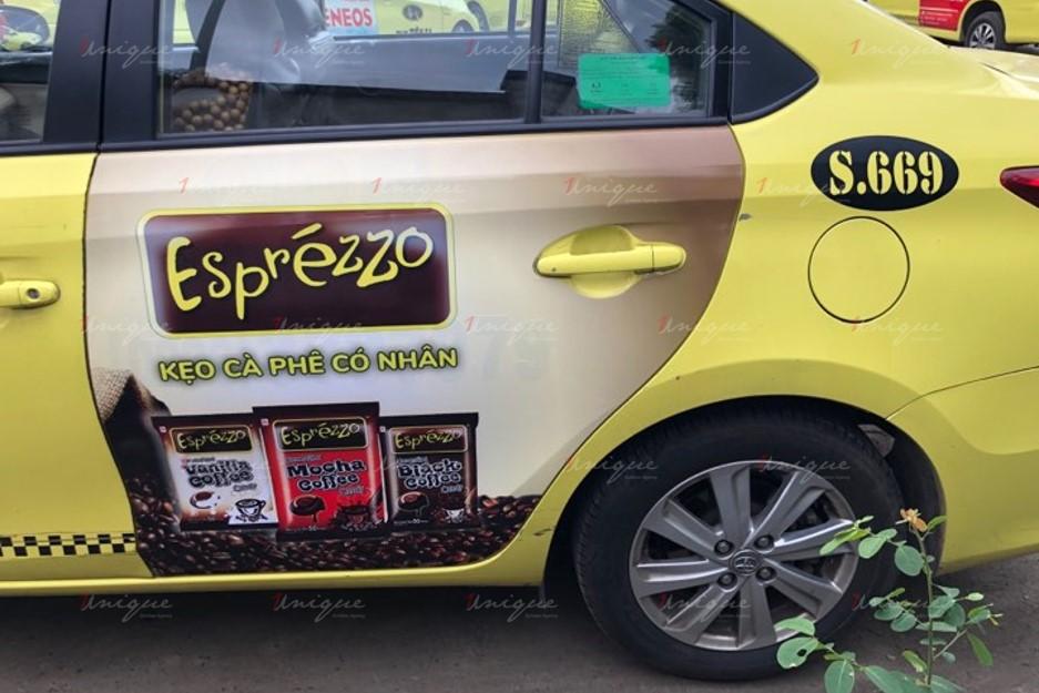 quảng cáo taxi tiên sa