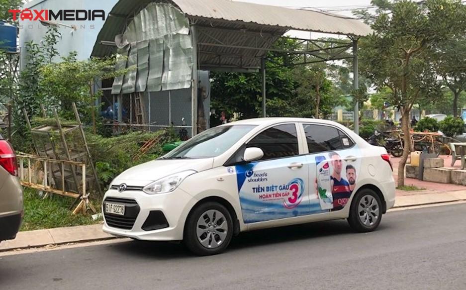 quảng cáo trên ô tô cá nhân